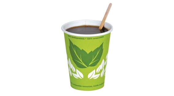 Groene duurzame bekers